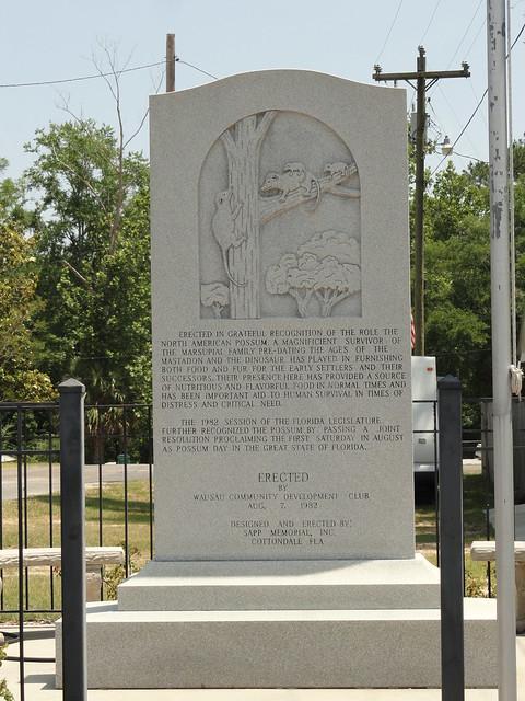 Possum Monument, Wausau, FL
