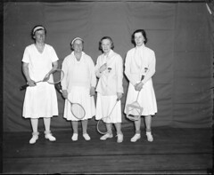Badminton: L-R: Dorman Weaver, Mrs. George Wig...