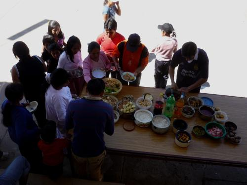 Our first Bolivian potluck!!