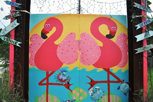 Flamingo Painting in Placida, Fla.