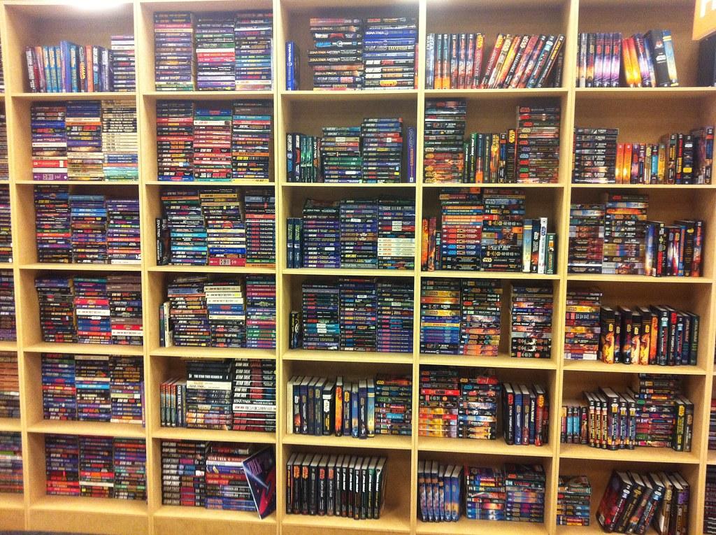 sci fi bookshelves