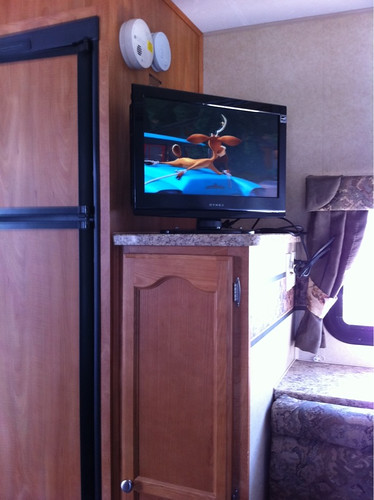 TV/DVD in our new trailer