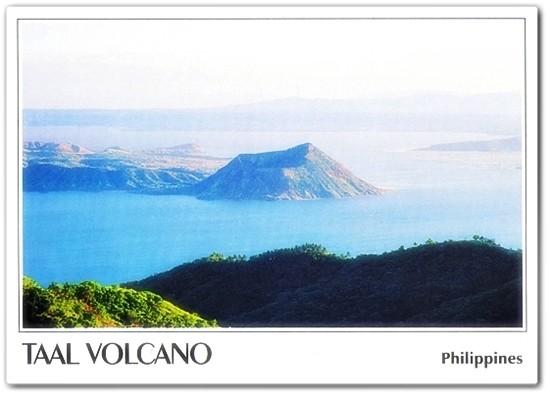 Taal Volcano postcard