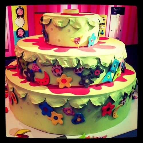 Stick on cake
