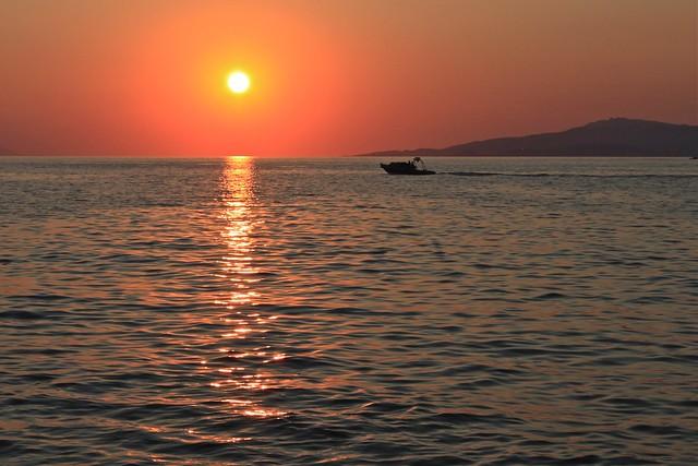 Coucher de soleil égéen, Myconos