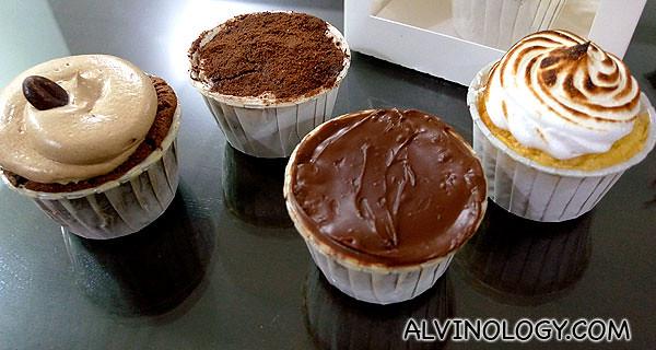 (Left to Right): Coffee, Milo, Chocolate and Vanilla