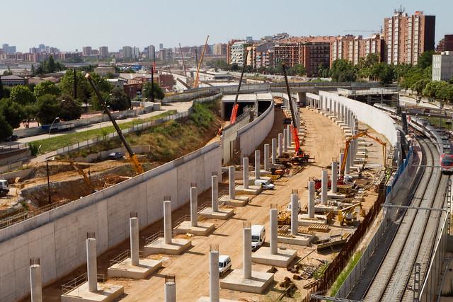 Zona de la estació de Sant Andreu - Sur - 28-07-11