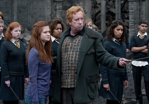 Ginny and Mr Weasley