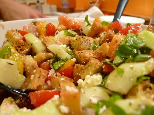 Yum, panzanella salad.