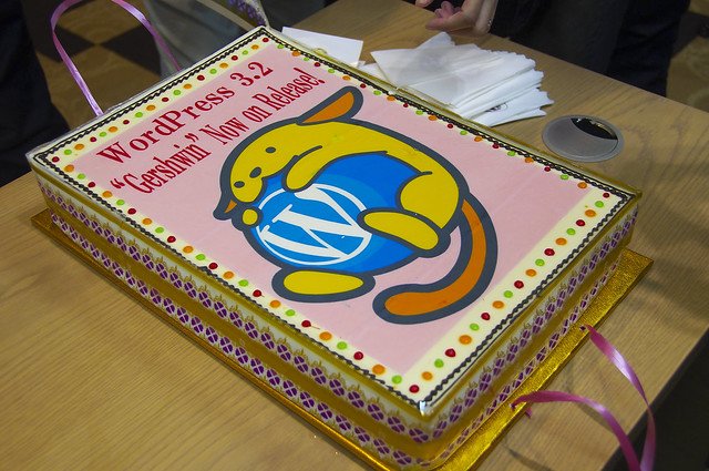 WordPress 3.2 リリース記念ケーキ