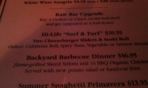 Surf & Turf at the Hi-Life