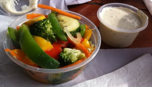 The Groper and His Wife, Garden Salad & Tartare Sauce