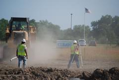 Temporary housing construction begins in Jopli...