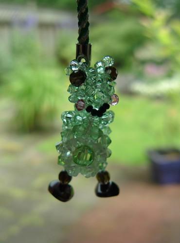 frog crystal keychain