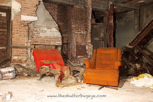 The orange chair found a friend