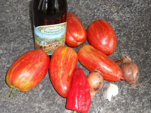 ingredienti per la salsa ubriaca