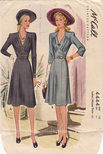 1940s Dress Pattern (McCall's 1944)