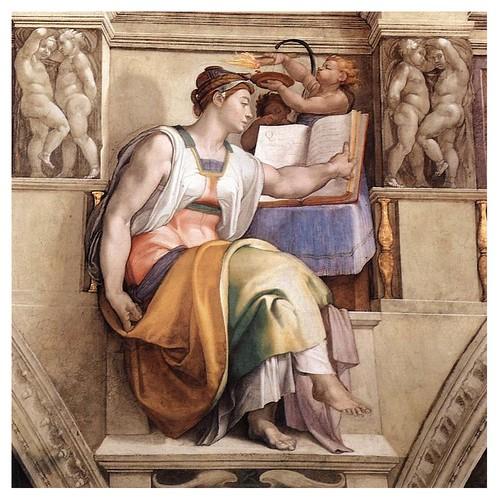 009-Sibila Eritrea pintada por Miguel Angel en la Capilla Sixtina
