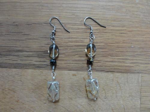 My first pair of earrings