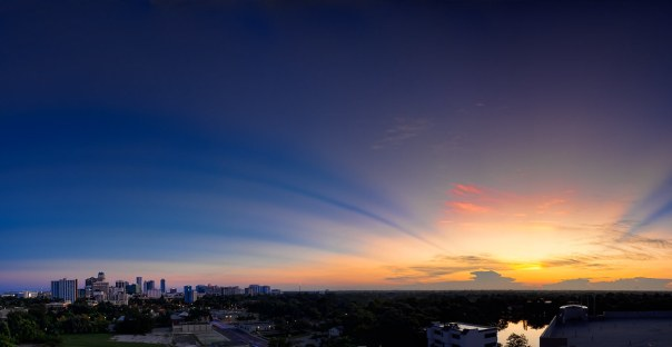 Orlando skyline sunrise, 9/11/11