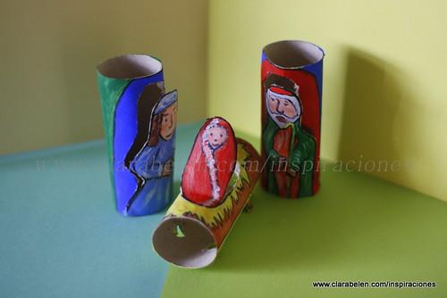 Manualidades_Belén fabricado con rollo de papel (19)