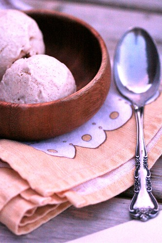 Honey-Cinnamon Cream Cheese Ice Cream 1