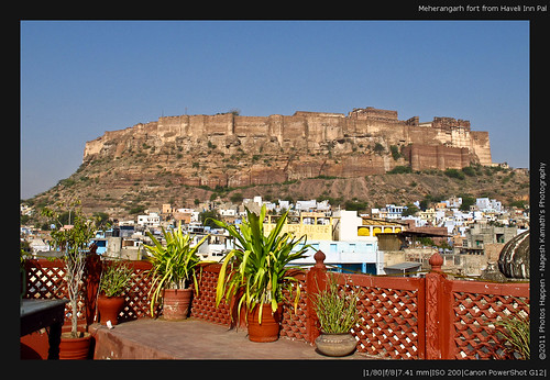 Meherangarh fort from Haveli Inn Pal