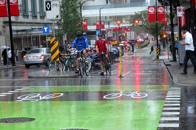Bike Lane in the Rain