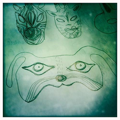sketches for masks