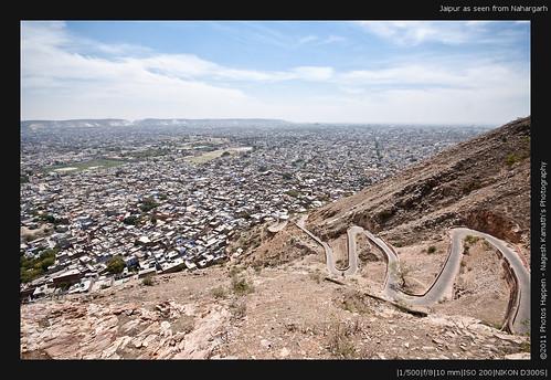 Jaipur as seen from Nahargarh