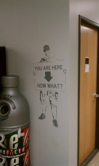 Life in the art building...