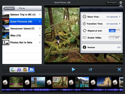 Flickr Slideshow on iPad