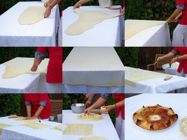 Preparation de la tourtière landaise
