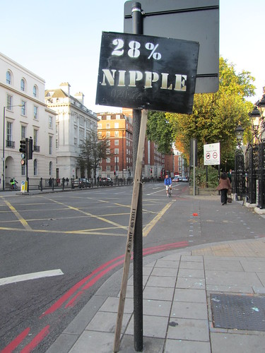 28% Nipple - a sign found near Regent's Park