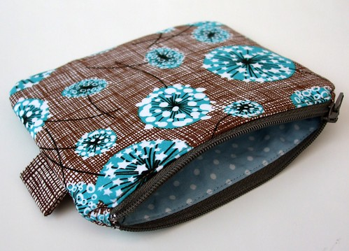 Dandelion coin purse by Very Berry Handmade