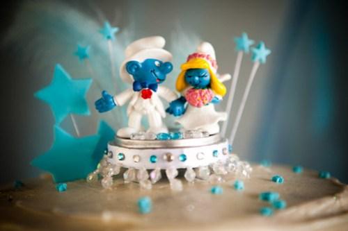 Smurf Cake topper.