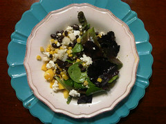 Southwestern salad with orange vinaigrette