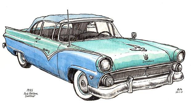 1955 ford fairline sunliner