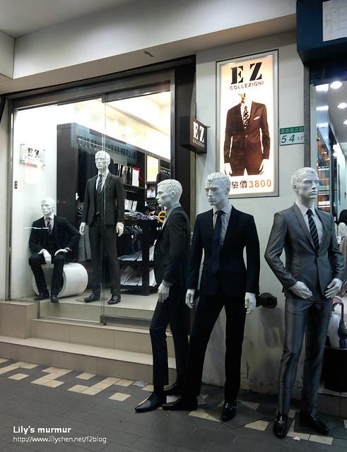 EZ Collezioni 時尚專業西服訂製 (西門店)的店門口,不大。