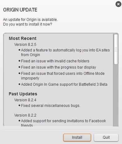 New Origin Update 8.2.5!
