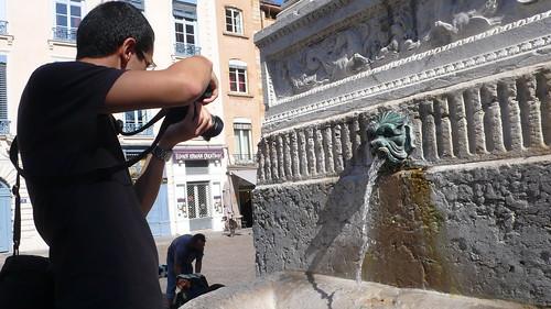 Le photographe de la fontaine