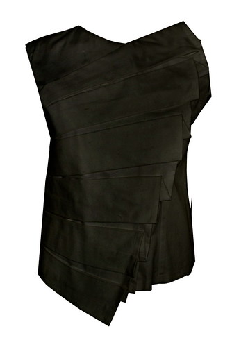 Top with shell Pleats_black P1495