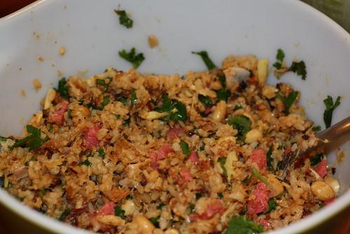brown rice nem khao