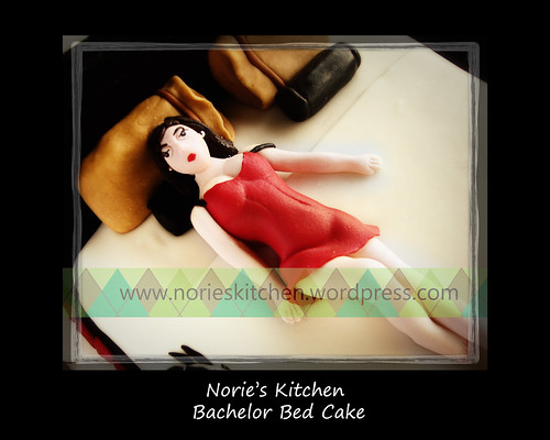 Norie's Kitchen - Bachelor Bed Cake - Lingerie Girl