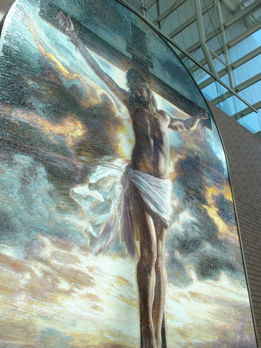"""Crucifixion"" by Mia Tavonatti at the DeVos Place"