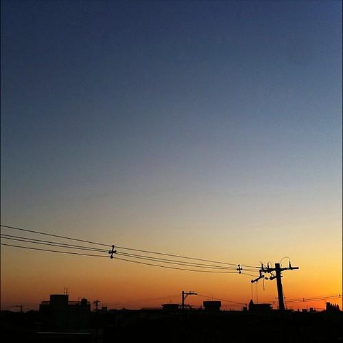 マジックアワーだよ~♪  #sunset #iphonography #instagram