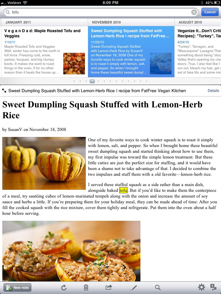 Evernote Recipe Example