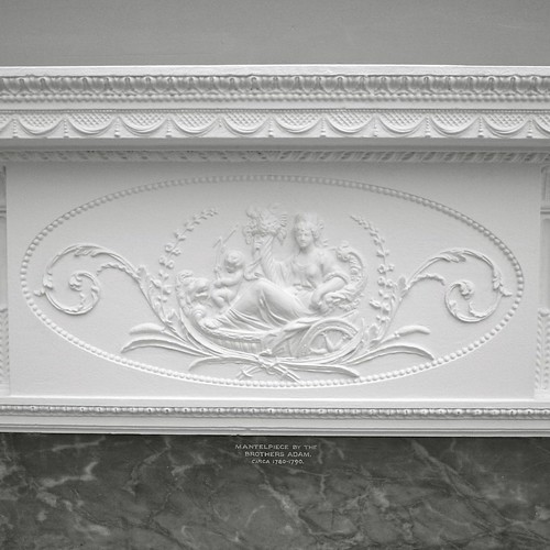 Decorated mantelpiece