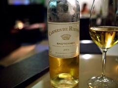 Carmes de Rieussec Sauternes 2004, Verre Wine Bar, 8 Rodyk Street