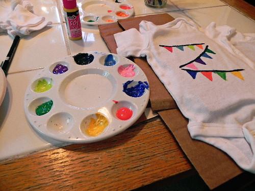 painting the onesies